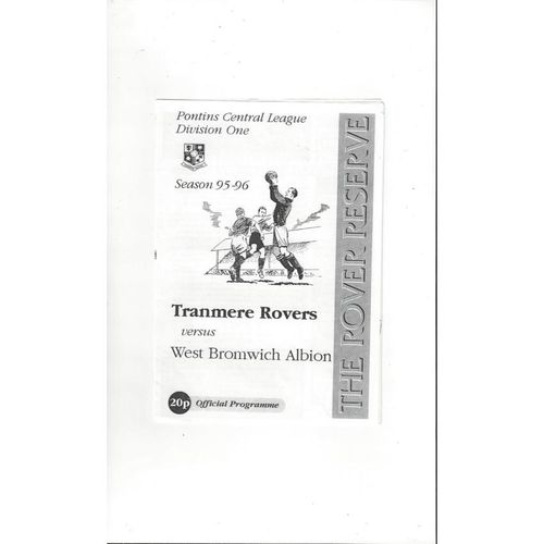 Reserves Football Programmes