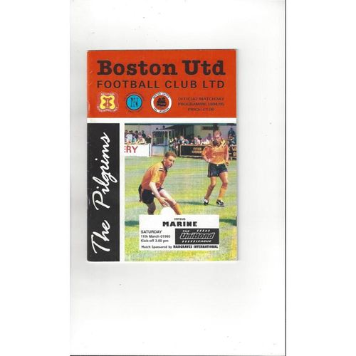 1994/95 Boston United v Marine Football Programme