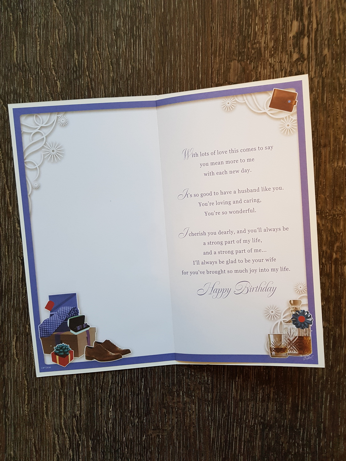 Husband Presents Wallet Birthday Card Remember That Card