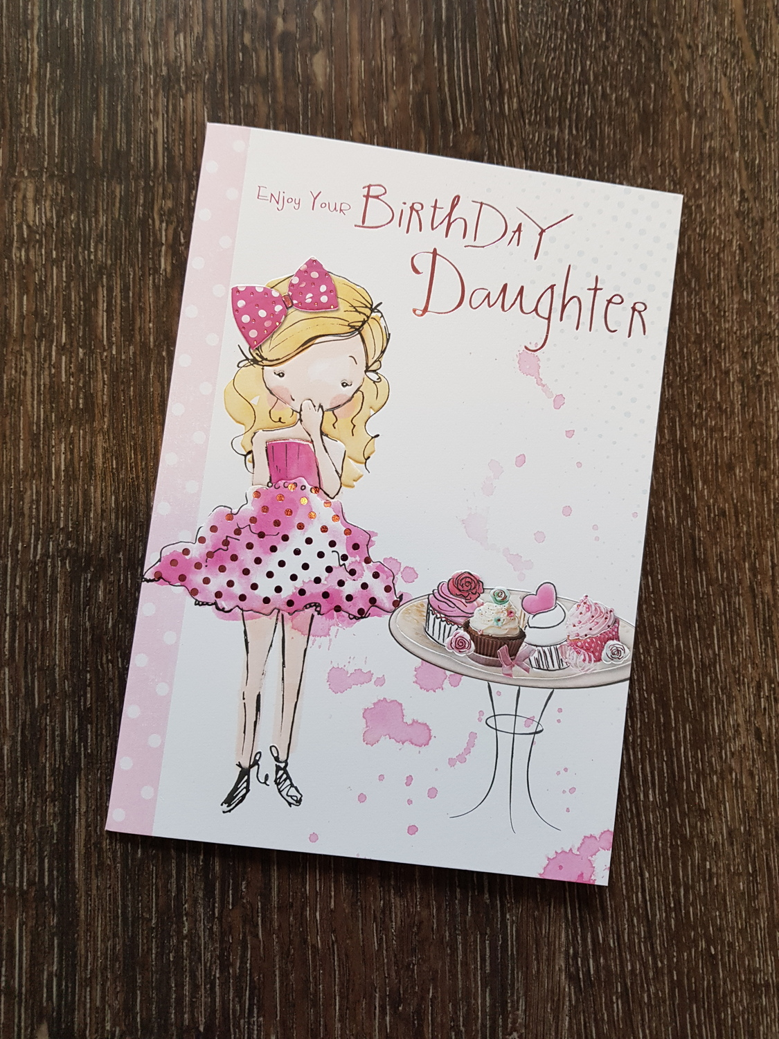 Daughter Birthday Girl Cakes Card