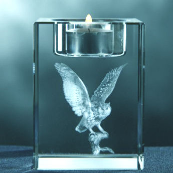 3D Crystal Candle Holder. 80x50x50. For 1 Person Or Pet