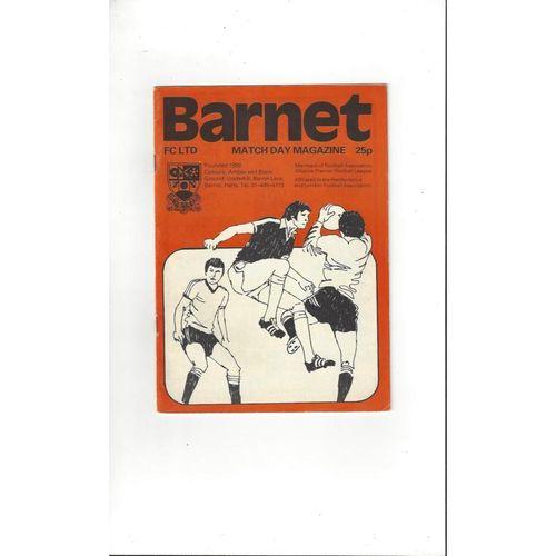 1982/83 Barnet v Worcester City Bobs Lord Trophy Football Programme