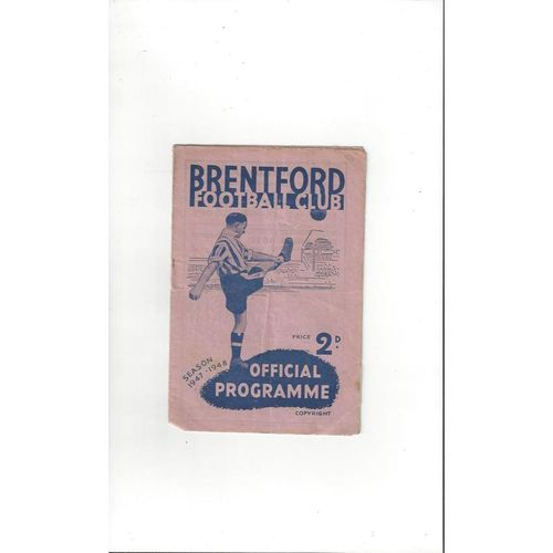 1947/48 Brentford v Birmingham City Football Programme