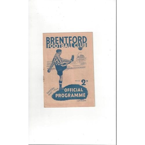 1947/48 Brentford v Bury Football Programme