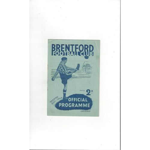 1947/48 Brentford v Chesterfield Football Programme