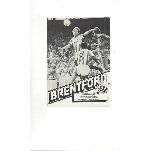 1983/84 Brentford v Dagenham FA Cup Replay Football Programme