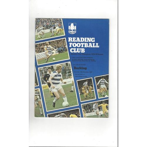 1978/79 Reading v Barking FA Cup Football Programme