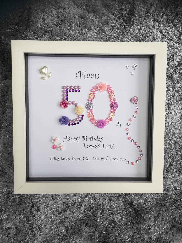 50th Birthday | Crafty Monkey | Personalised Golden Wedding Led ...