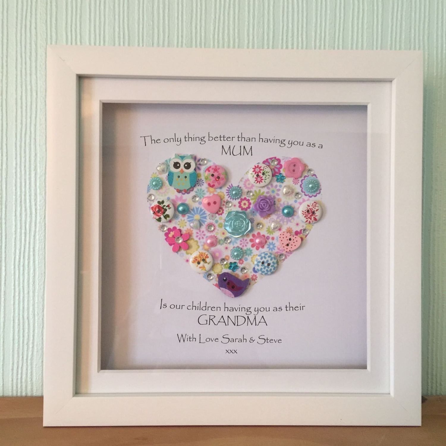 For Grandma Frame Crafty Monkey Personalised Gifts For All