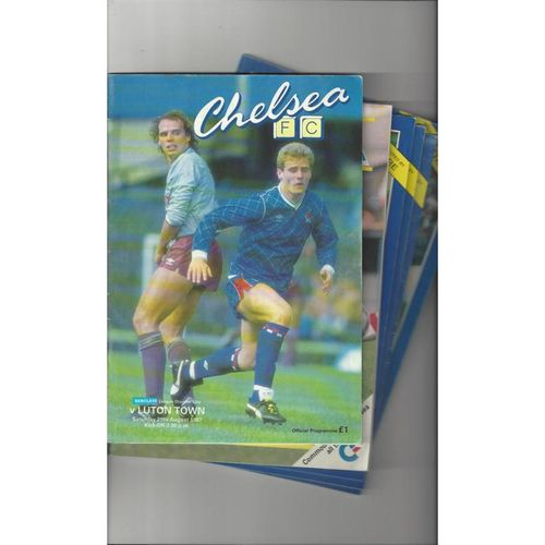 16 Chelsea Homes Football Programmes 1970/71 to 1997/98 All Single Items