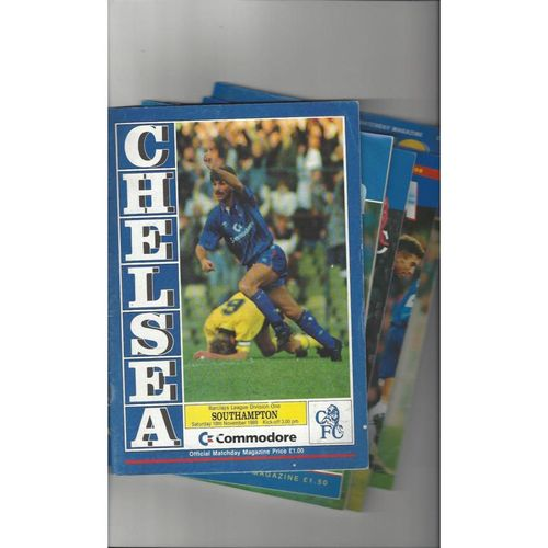 16 x Chelsea Homes Football Programmes 1970/71 to 1997/98 All Single Items