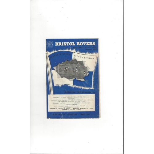 1955/56 Bristol Rovers v Lincoln City Football Programme
