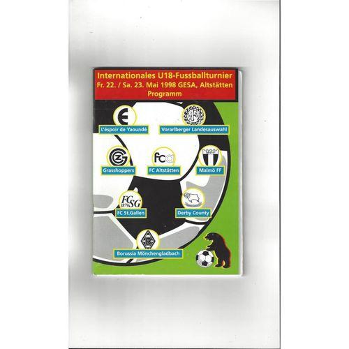 International U18 Tournament Derby County Football Programme 1998 + Team Sheet
