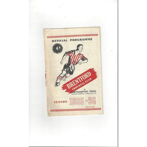 1955/56 Brentford v Northampton Town Football Programme