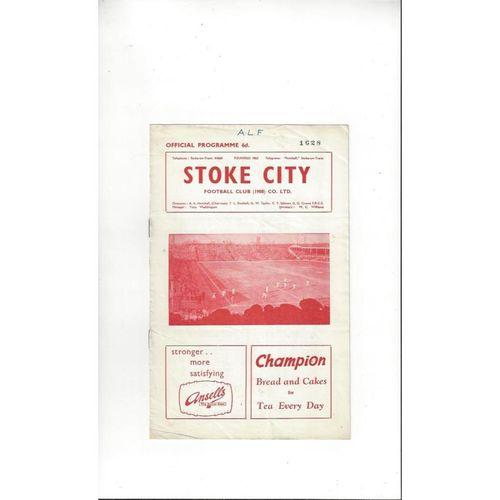 1961/62 Stoke City v Leyton Orient Football Programme