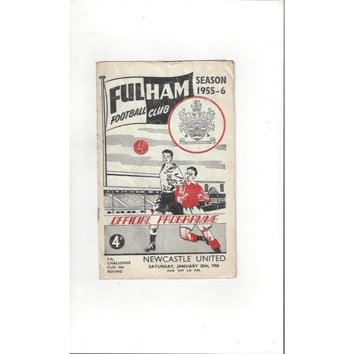 1955/56 Fulham v Newcastle United FA Cup Football Programme
