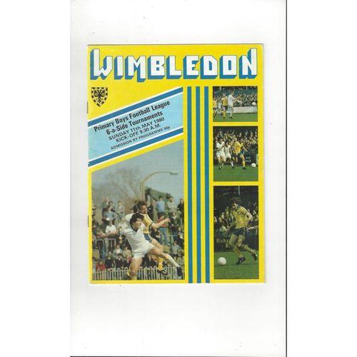 Primary Boys League 6 a side Tournament @ Wimbledon Football Programme 1979/80