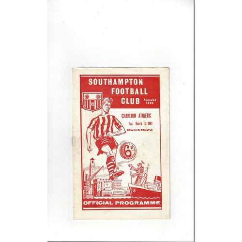 1961/62 Southampton v Charlton Athletic Football Programme