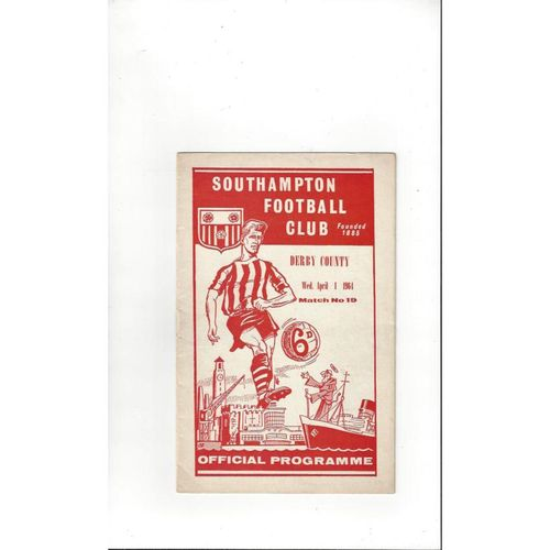 1963/64 Southampton v Derby County Football Programme