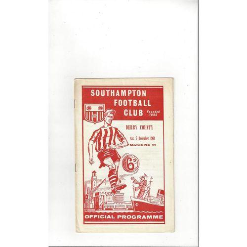 1964/65 Southampton v Derby County Football Programme