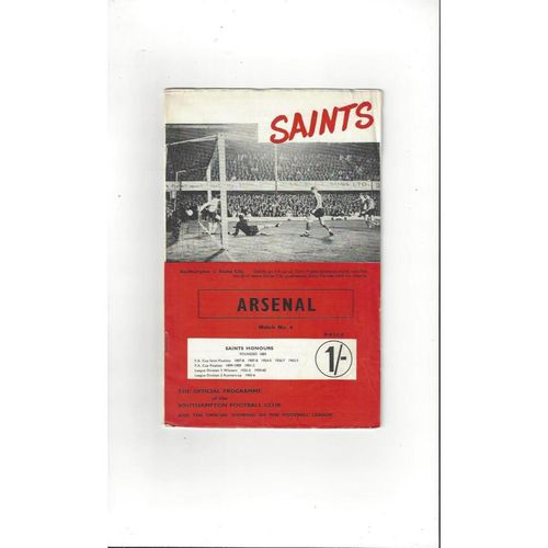 1960's League & Cup Football Programmes