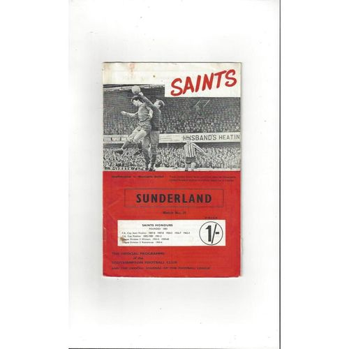 Southampton Home Football Programmes