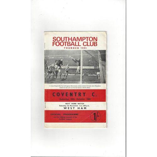 Southampton Home Football Programmes