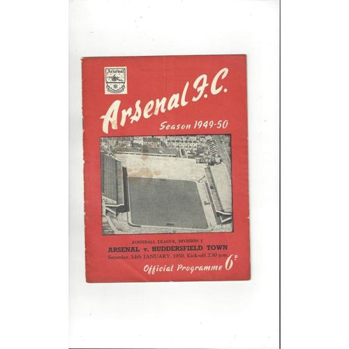 1949/50 Arsenal v Huddersfield Town Football Programme
