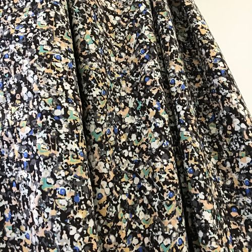 See You At Six Flowers Dark Viscose Rayon