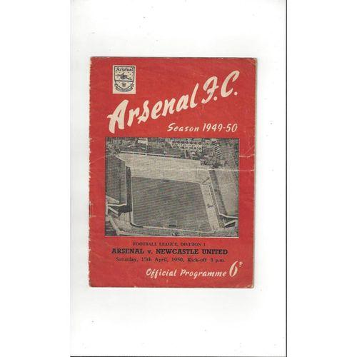 1949/50 Arsenal v Newcastle United Football Programme