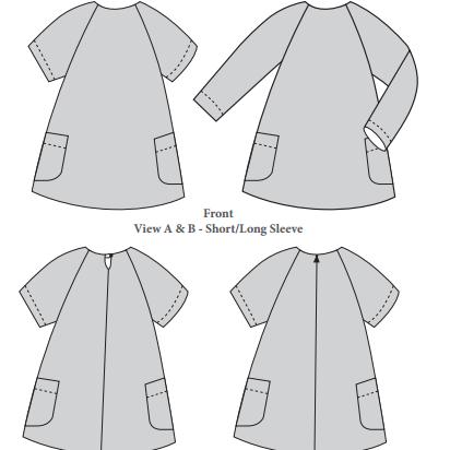 The Avid Seamstress Girls The Raglan Dress - Ages 3-8 years