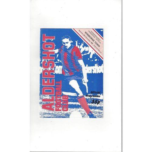 Aldershot v Wimborne Town FA Cup Football Programme 1982/83