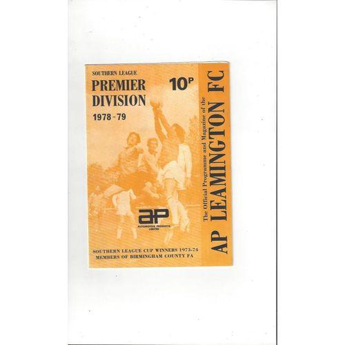 1978/79 AP Leamington v Torquay United FA Cup Football Programme