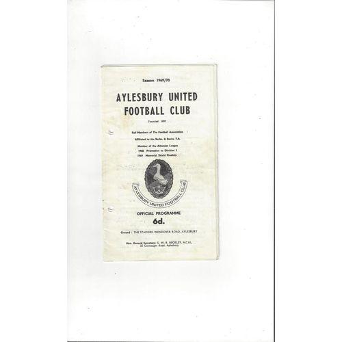 1969/70 Aylesbury United v Wealdstone FA Cup Football Programme