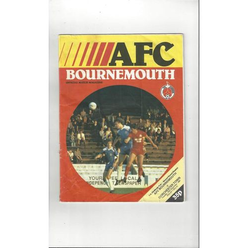 Bournemouth v Dorchester Town FA Cup Replay Football Programme 1981/82