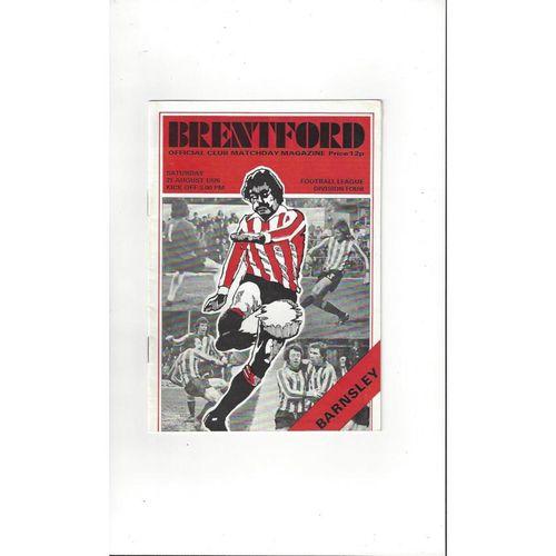 1976/77 Brentford v Barnsley Football Programme