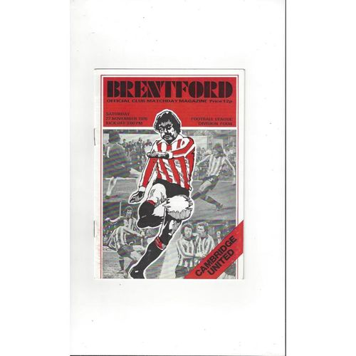 1976/77 Brentford v Cambridge United Football Programme