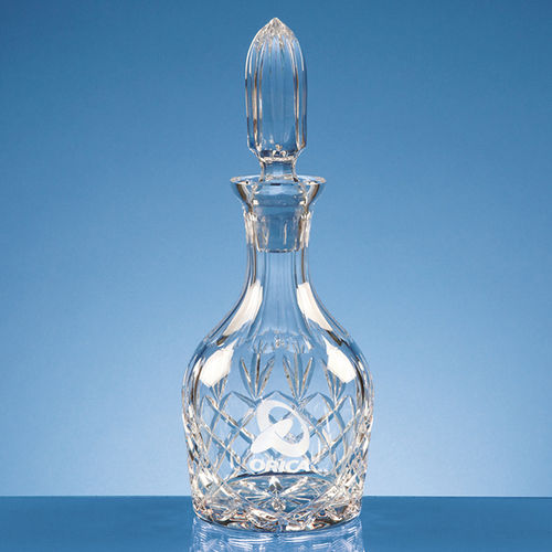 Lead Crystal Round Wine Decanter 0.75ltr