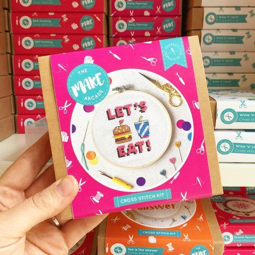 Lets Eat Cross Stitch Kit