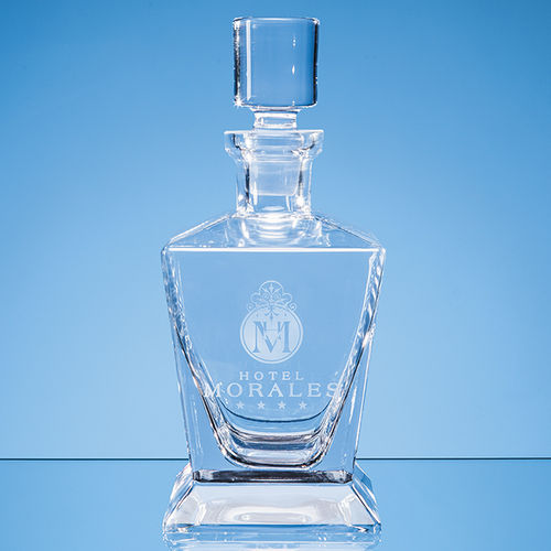 Handmade Tapered Square Spirit Decanter 0.75ltr