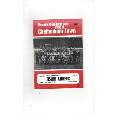 1985/86 Cheltenham Town v Fisher Athletic Football Programme