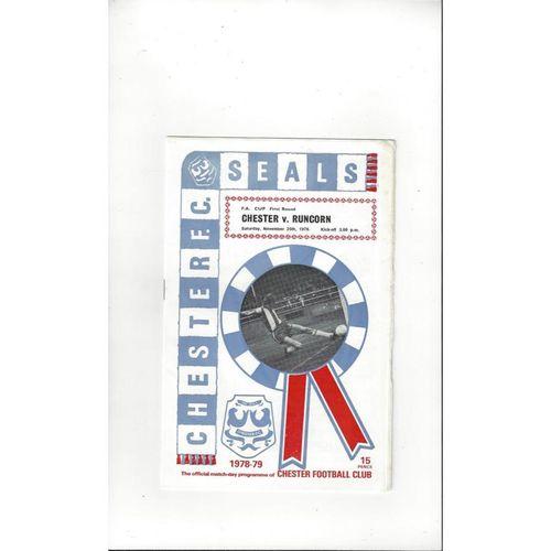 Chester v Runcorn FA Cup Football Programme 1978/79