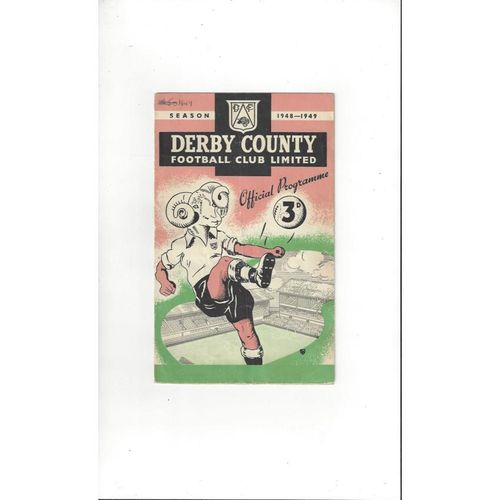 1948/49 Derby County v Cardiff City FA Cup Football Programme