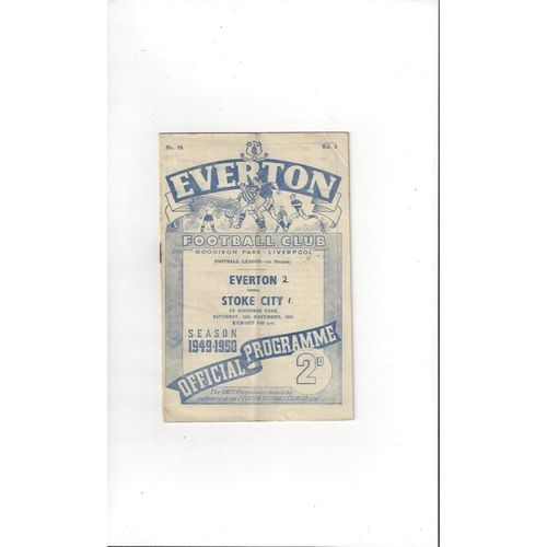 1949/50 Everton v Stoke City Football Programme