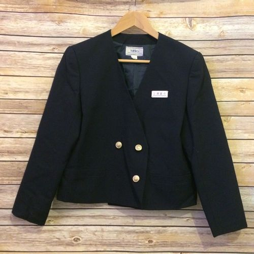 Medium 165A, school girl uniform jacket, with badge