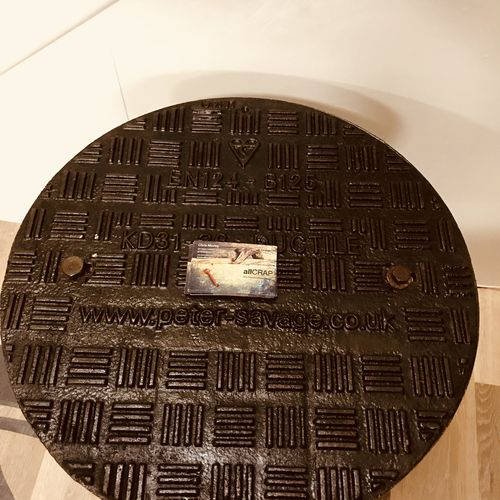 Upcycled Paraffin  Stove Side Table.