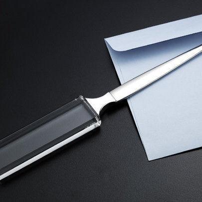 Crystal letter opener