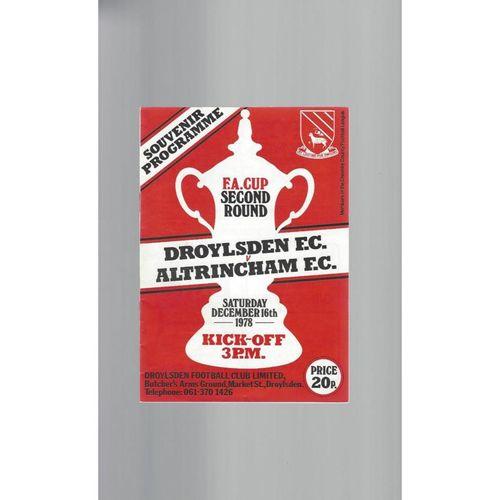 1978/79 Droylsden v Altricham FA Cup Football Programme