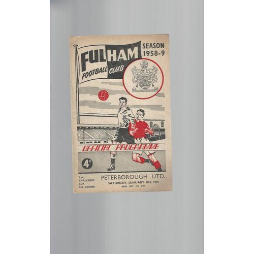 1958/59 Fulham v Peterborough United FA Cup Football Programme