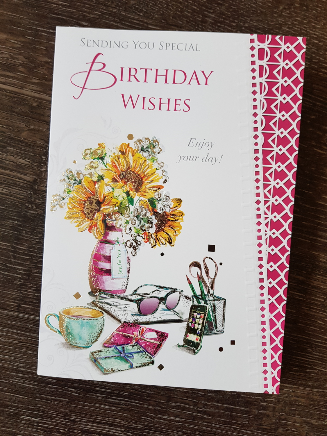 Birthday Wishes Flowers Cup Card Remember That Card Greeting
